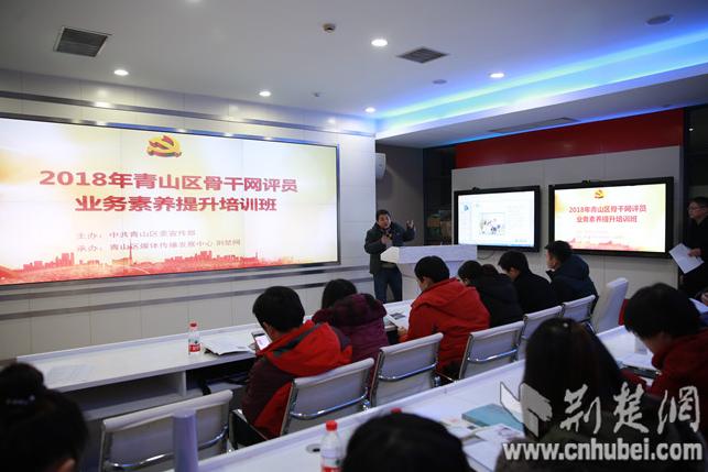 """青山区60名网评员到荆楚网学习如何成为""""正能量网红"""""""